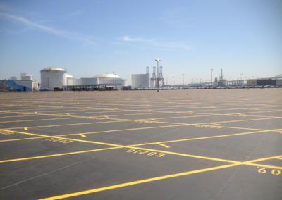 Toyota Logistics, Long Beach, Striping