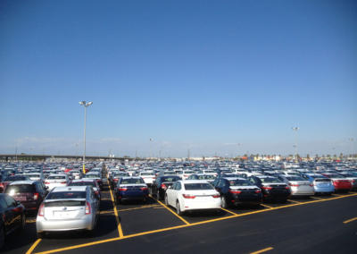 Toyota Logistics, Long Beach, With Cars