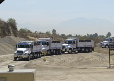 Trucks In Line at Asphalt Plant